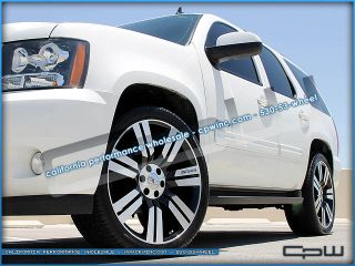 "24"" Marcellino Concept 24 Wheels and Tires Rims GMC Yukon XL Gloss Machined"