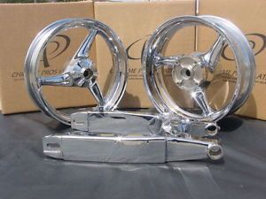 Honda CBR 600 CBR600 F4i F 4 F4 I Chrome Wheels Rims