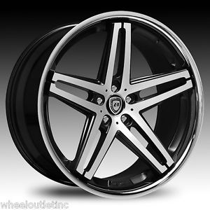 "22"" Lexani Wheels R 05 Stagger Rims Tires Mercedes S550 SL Class BMW 745 750 20"
