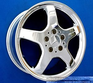 "Mercedes SLK320 SLK230 AMG 17 inch Chrome Wheel Exchange 17"" Rims SLK 230 320"