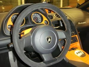 Lamborghini Gallardo Suede Steering Wheel Orange Cross Stitching Momo OEM