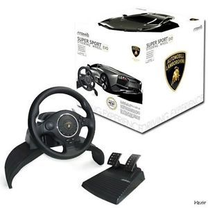 PS3 Lamborghini Super Sport EVO Racing Steering Wheel Controller MPA28 PS2 PC