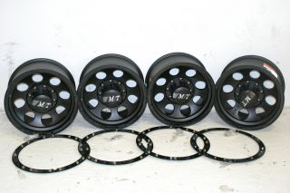 4 Black Mickey Thompson Classic Lock Wheels 17x9 8x6 5 Chevy Ford Dodge 8 Lug