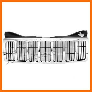 2005 2007 Jeep Grand Cherokee Limited Overland Grille Grill New Front Body Parts