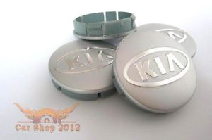 Kia Chrome Wheel Center Caps 4 60mm Badge Alloy Rims Ceed Optima Soul Sorento