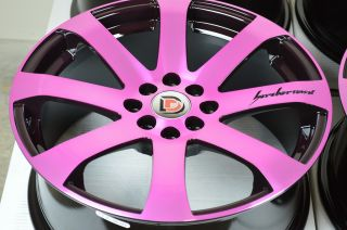 17 Pink Wheels Rim Prelude CRX Elantra Sonata Escort Cobalt Civic Integra Legend