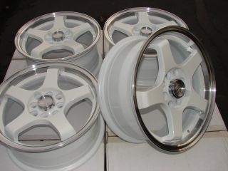 "15"" New Effect Wheels White Rims 4 Lugs Acura CL Legend TC Accord Prelude Galant"