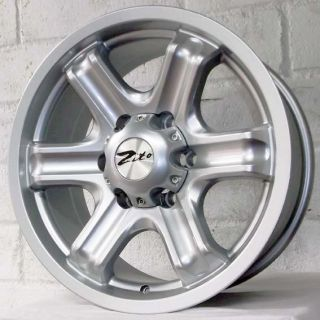 "16"" Mitsubishi L200 Triton 2006 2012 Pick Up Zito Mace Silver Alloy Wheels 6x139"