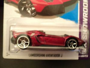 "2013 Hot Wheels Lamborghini Aventador J New Red New ""P"" Case"