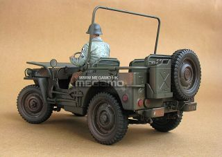 1 18 Willis Jeep 1 4 Ton US Army Truck WWII Dirt Character Ed Welly Free SHIP