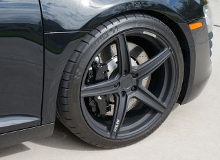 ADV1 Wheels Tires 5 1 SL 19 Lamborghini Gallardo Audi R8 Textured Black Forged