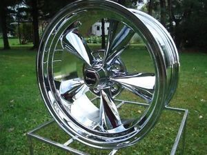 675 Ridler Racing Hotrod 17x8 Chrome GM Chevy Corvette Buick Olds Wheels