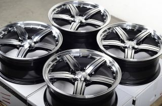 17 5x114 3 Black Polished Wheels Mitsubishi Diamante Eclipse galant Lancer Rims