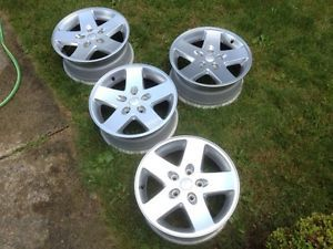 4 Jeep Wrangler JK Wheels Rims Rubicon Aluminum MOAB 17 Almost Like New 07 2014