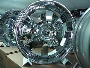 "26""Forgiato Otto Chrome Wheels Nissan Escalade Chevy Yukon Tahoe Conversion Van"