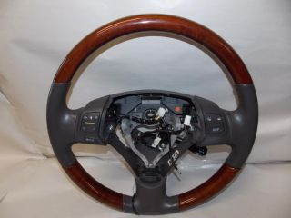 06 07 Lexus GS300 Gray Leather Reddish Wood Steering Wheel 2006 2007 122