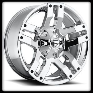 "20"" x 9"" MHT Fuel Off Road D514 Pump Chrome 8x180 Silverado GMC Wheels Rims 20x9"