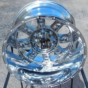 "20x14"" Chrome XD Riot Wheels Rims Chevy Silverado GMC Dodge 2500 3500 Ford F 250"