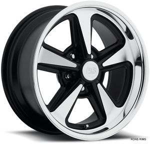 "US Mag Pontiac Buick Style Rally ""Bandit"" 18x8 Machined Black Hotrod Wheel"