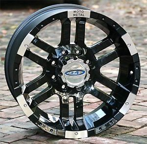 17 inch Black Wheels Rims Moto 951 Chevy GM Truck 8 Lug