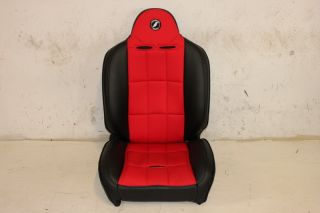 Corbeau Baja RS Passenger Side Seat Red Black Jeep Wrangler YJ TJ JK CJ