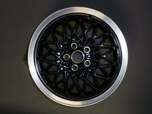 Pontiac Fiero GT 1986 1987 Rear Western Wheel Black Diamond Spoke Rim XBZ