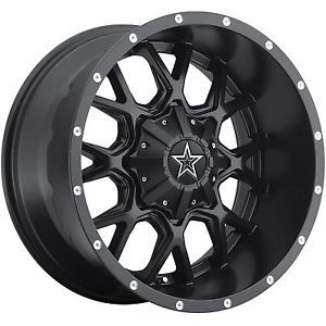 "18"" Black Dropstar 645 Wheels Rims Jeep Wrangler JK Comander Cherokee Chevy 1500"