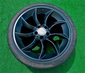 Perfect Satin Matte Black Genuine AMG Mercedes Benz McLaren SLR Wheels Tires