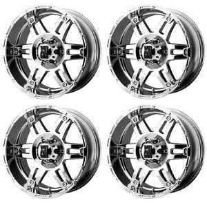 KMC XD797 Spy XD79778068218 Rims Set of 4 17x8 18mm Offset 6x5 5 Chrome