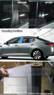 B Pillar Glossy Black Decal Sticker Fit Kia 2011 2013 Optima K5