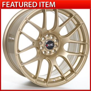 XXR 530 18 18x8 75 5 100 5 114 3 20 Gold Wheels Rims Mitsubishi Lancer EVO 8 10