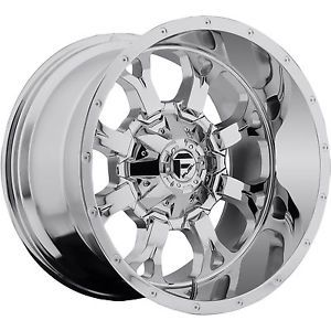 20x12 Chrome Fuel Krank Wheels 5x5 5 5x150 44 Lifted Mitsubishi Raider