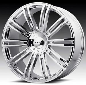 20 inch KMC Chrome Wheels Rims 6x135 Ford F150 Expedition Navigator 6 Lug