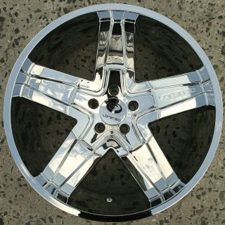 Lorenzo WL030 22 x 9 0 Chrome Rims Wheels Dodge Magnum RT Base 5H 18