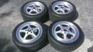 "Oz Racing Mito 17"" Staggerred 3 Piece Wheels 5x112 and Tires"