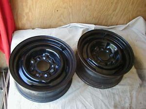2 1962 1968 Factory 14x6 Steel Wheels Buick Olds Pontiac