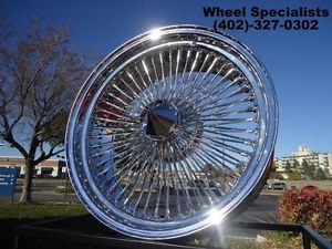 "20"" inch Player Chrome Wire Wheels Full Set Rims 4 100 Spoke Oldsmobile Pontiac"