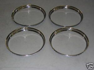 1960 62 Pontiac 8 Lug Aluminum Wheel Trim Ring Set