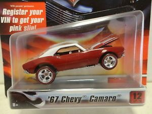 Hot Wheels '67 Chevy Camaro Red 1967 w Redline RR Real Rubber Ultra Hots