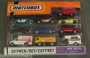 2009 Matchbox Exclusive 10 Pack Box MB764 w Red Toyota Land Cruiser FJ40 SEALED