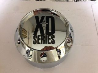 KMC XD XDS 464K106 905K106 1002905 1002786 Chrome Wheel Rim Center Cap 6 Lug