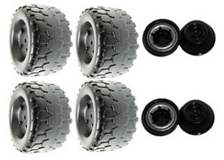 Power Wheels T6137 Dora 10th Anniversary Jeep Wrangler Replacement Wheel 4 Pack