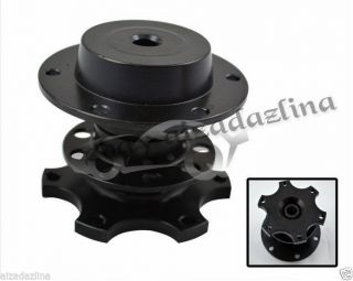 Black Steering Wheel Hub Quick Release Tuning Black 6 Bolt Momo Sparco Snap Off