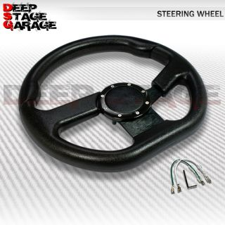 Universal 6 Bolt Aluminum Frame 320mm Racing Steering Wheel Black ZIC Zac Rivet