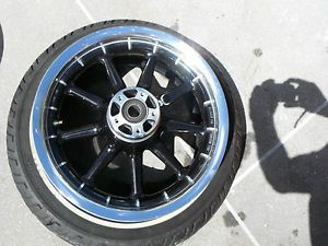 "Harley Front Wheel Touring Road King Classic Ultra Street Road Glide 1"" Polished"