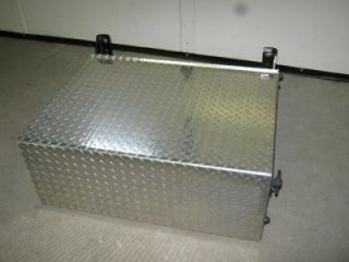 M2 Frieghtliner Semi Diamond Plate Aluminum Steel Metal Larger Battery Box
