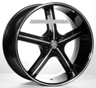 "22"" inch AC55BM Wheels and Tires Rims for 300C Charger Magnum Challenger"