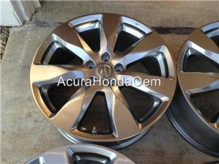 "19"" Genuine 2014 Acura MDX Wheel Rim with TPMS and Center Caps Free SHIP"