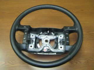 92 96 Ford F 150 F 250 F 350 Black Leather Steering Wheel w Cruise