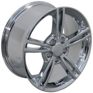 "One 18"" Chrome Corvette Split Spoke Gumby Wheel 18x8 5 Fits Chevrolet"